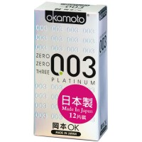 【okamoto岡本OK】003 Platinum白金 12片裝