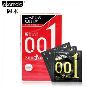 日本岡本okamoto 0.01 3個入