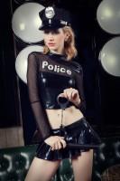 漆皮女警性感制服